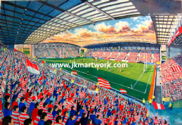 Hand Painted original of dw stadium